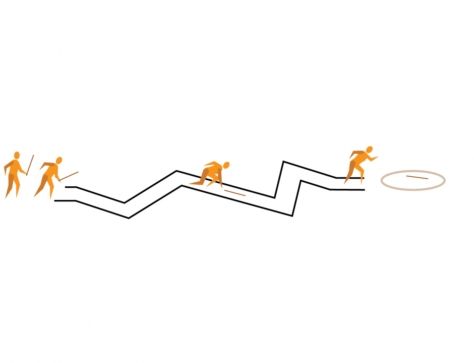 Le lancer du serpent en zigzag